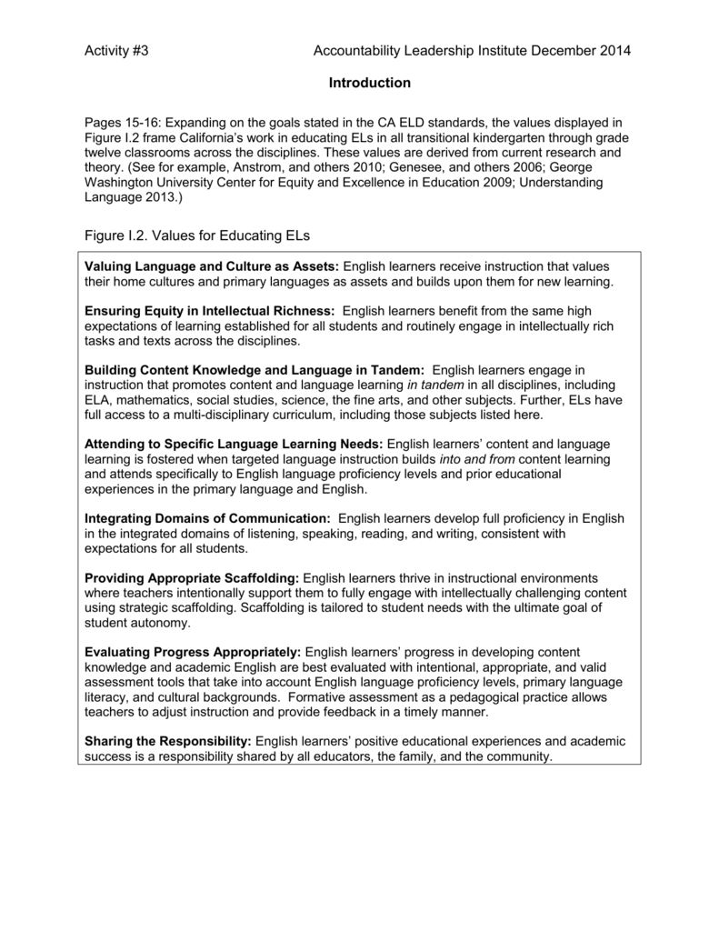 An Overview of the ELAELD Framework Handout 4of4
