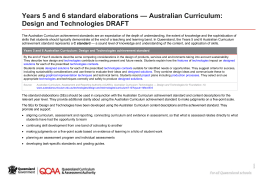 Years 5 and 6 standard elaborations * Australian Curriculum
