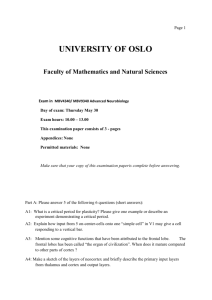 UNIVERSITY OF OSLO Faculty of Mathematics and Natural Sciences
