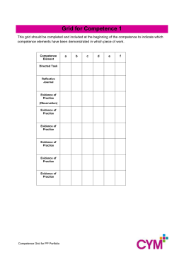 Grid for Competence 1