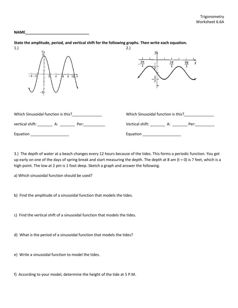 Worksheet 6 6A