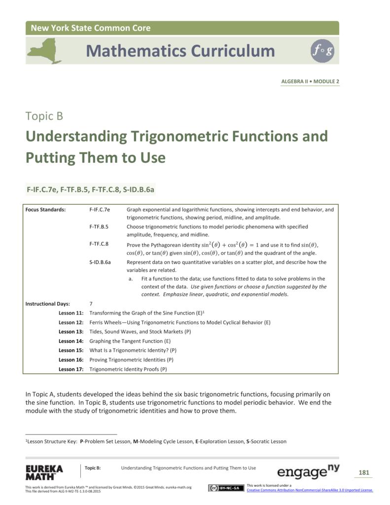Algebra II Module 2, Topic B, Overview
