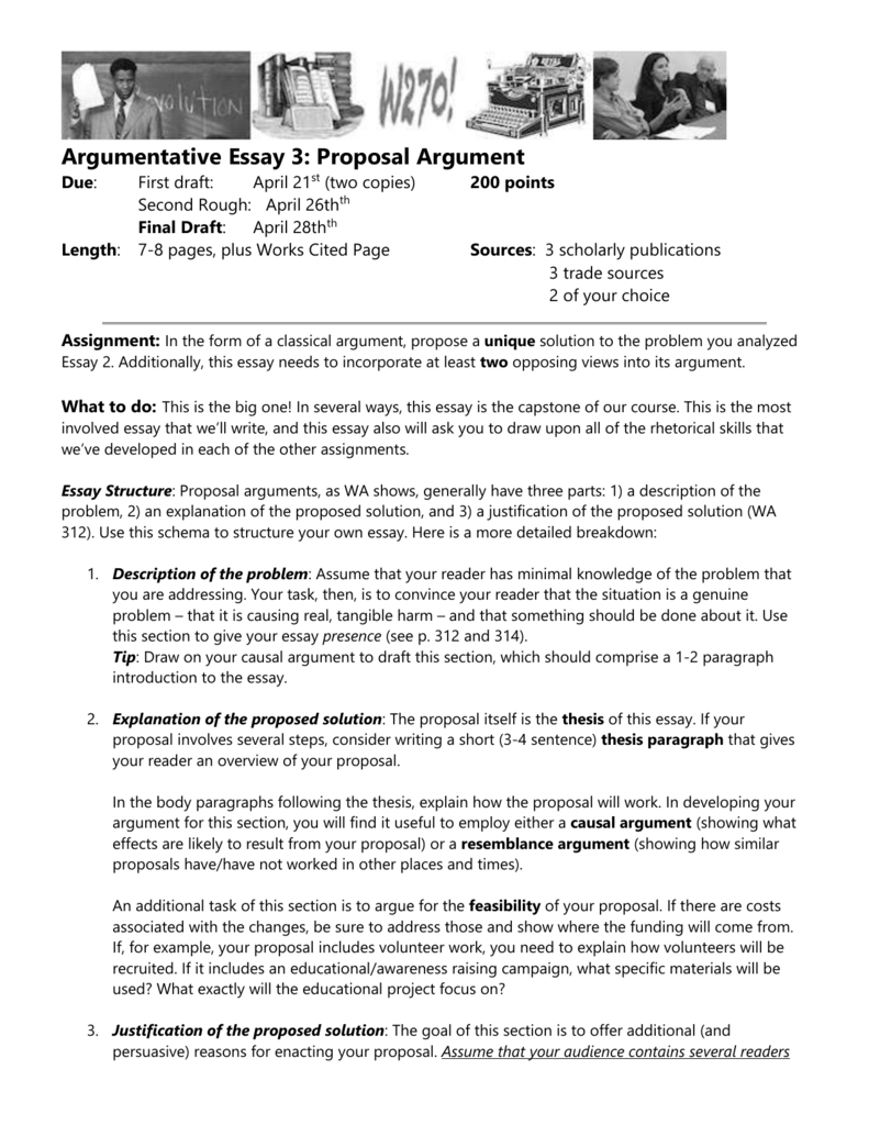 argumentative essay  proposal argument