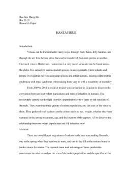 hantavirus research paper View essay - bio 111 hantavirus paper ben from bio 111a at saginaw valley state university running head: hantavirus (hpv) 1 hantavirus pulmonary syndrome ben jean saginaw valley state.