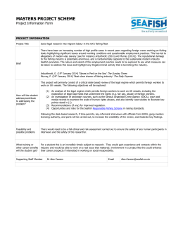 the Masters Project Information Ethics form