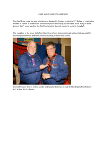 Oct 2012 - All - Chief Scout Visits Carryduff