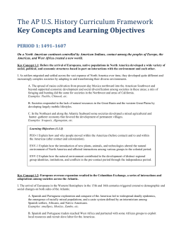APUSH Key Concepts and Learning Objectives