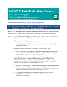 System of Evaluation—Review Guidance