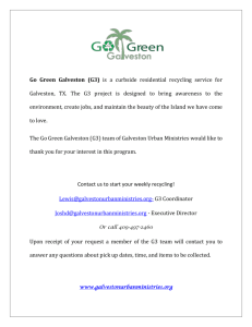 Go Green Galveston (G3) - Galveston Urban Ministries