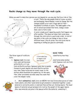 Reading for rock cycle