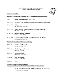 Program - National Swine Improvement Federation