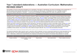 Year 7 Mathematics standard elaborations (DOCX, 115 kB )