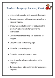 Teacher`s language summary chart (docx