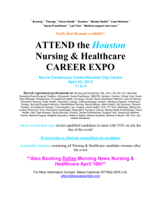 ATTEND the Houston Nursing & Healthcare CAREER EXPO
