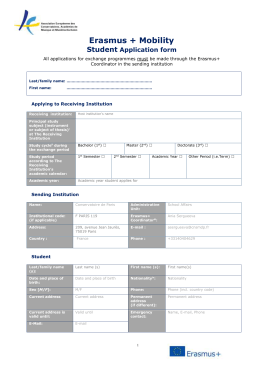 Erasmus + Mobility Student Application form on application to be my boyfriend, application error, application meaning in science, application database diagram, application service provider, application to join a club, application approved, application for rental, application to rent california, application clip art, application trial, application cartoon, application template, application for scholarship sample, application submitted, application for employment, application in spanish, application to join motorcycle club, application insights, application to date my son,