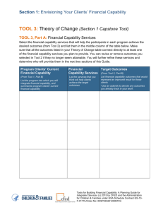 TOOL 3: Theory of Change