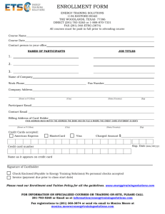 Enrollment Form (Word Format)