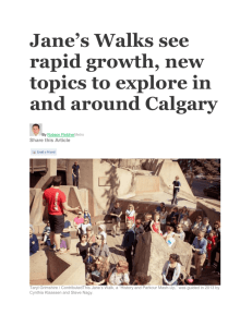 Jane`s Walks see rapid growth, new topics to explore in and around