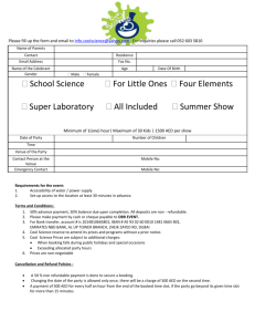 Booking Form - Cool Science Experiments in Dubai