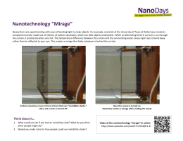 Nanotechnology Mirage reference sheet