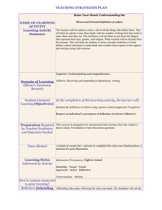 Learning and Assessment Links