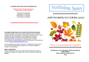 Read our Newsletter - The Northolme Practice