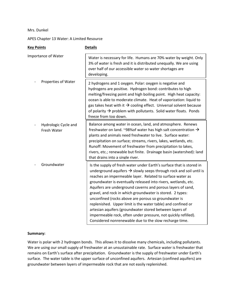 My Chapter 13 Cornell Notes Example