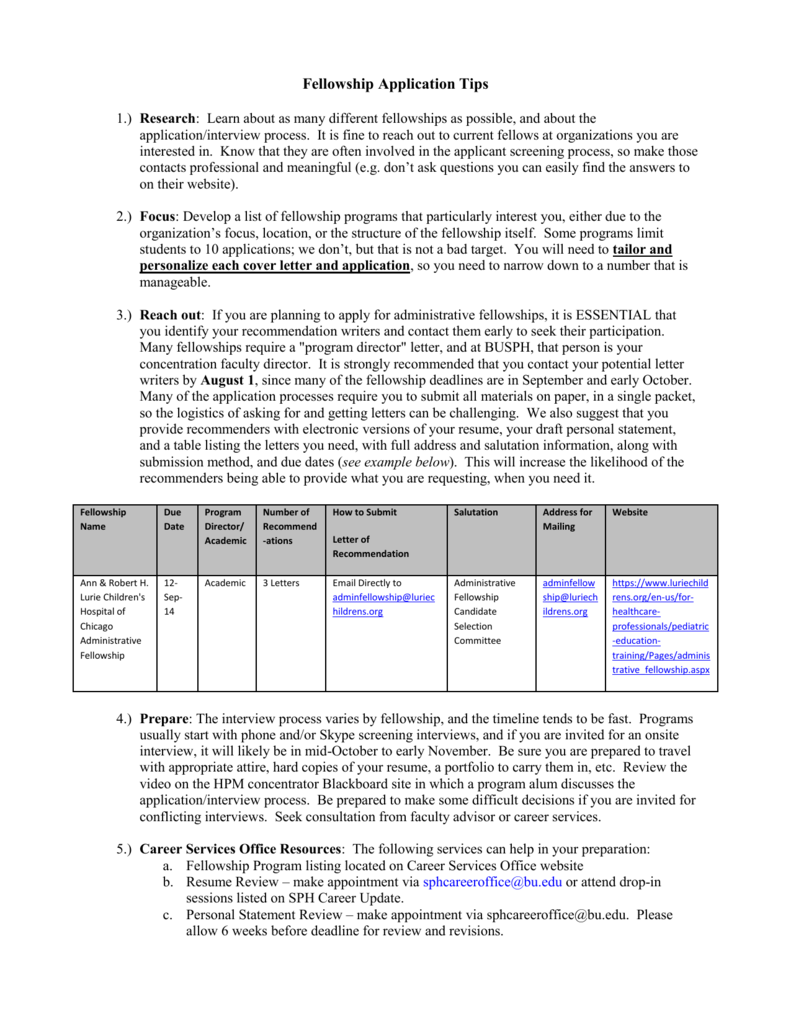 sample fellowship interview questions