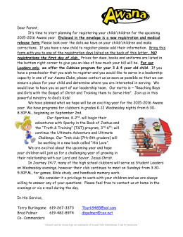 AWANA Parent Letter 2015-2016 - Bonita Valley Baptist Church