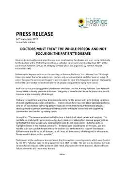 Doctors must treat the whole person and not focus on the patient`s