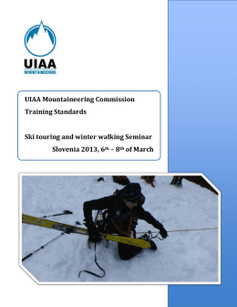 Ski touring and winter walking Seminar
