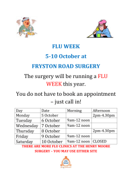 flu clinic fryston road surgery