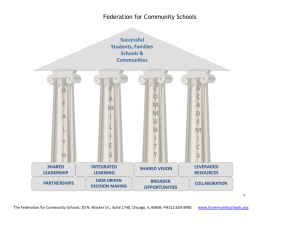 Federation for Community Schools - Coalition for Community Schools