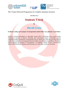 Students TALK by David Grass