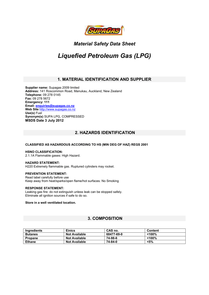 Material Safety Data Sheet LPG (58KB, PDF)