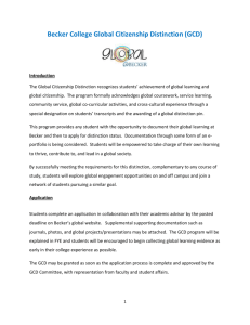 Global Citizenship Distinction Program Application