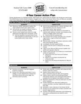 4 Year Career Action Plan