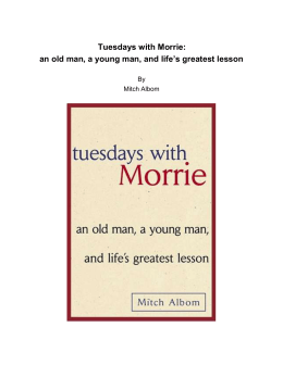 Albom_Tuesdays with Morrie -