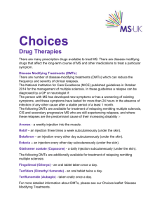 Choices Drug Therapies - MS-UK