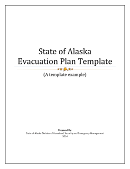 Evacuation Template - Alaska Division of Homeland Security and