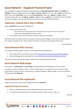 Social Network * AngularJS Practical Project