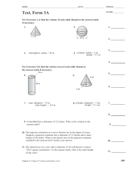 Pythagorean Theorem - worksheet to hand in