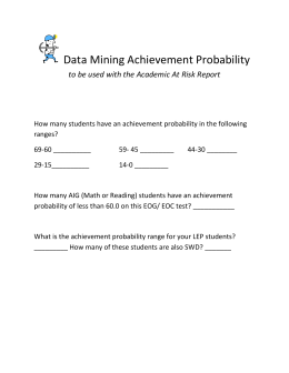 Data Mining Achievement Probability