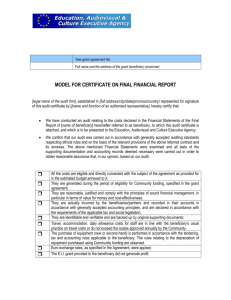 annex 2: proposed model for an audit certificate
