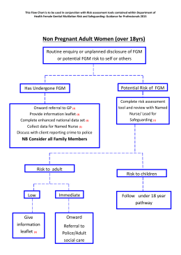 FGM Reporting Flowchart for Non-Pregnant Women