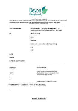 LADO Meeting Minutes Template