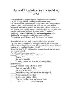 Prom dress re-design activity link