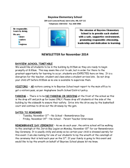 Newsletter - Nov. 2014