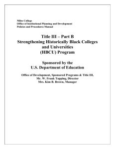 AN OVERVIEW OF TITLE III PROGRAM