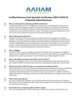 certified revenue cycle executive certification rh studylib net Telecom Revenue Cycle Management certified revenue cycle specialist study guide 2016
